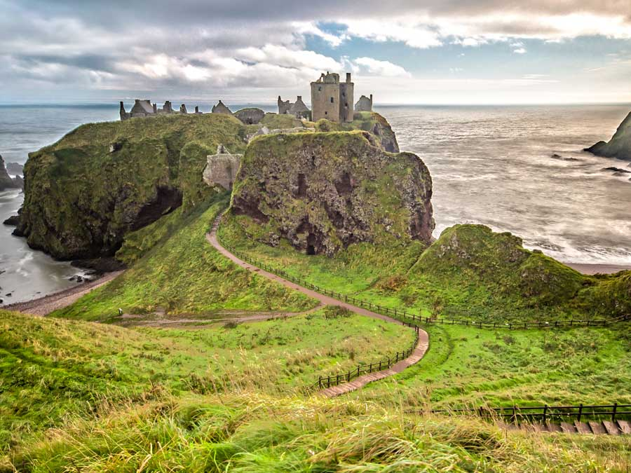 The Dunnottar Castle, Scotland in the United Kingdom