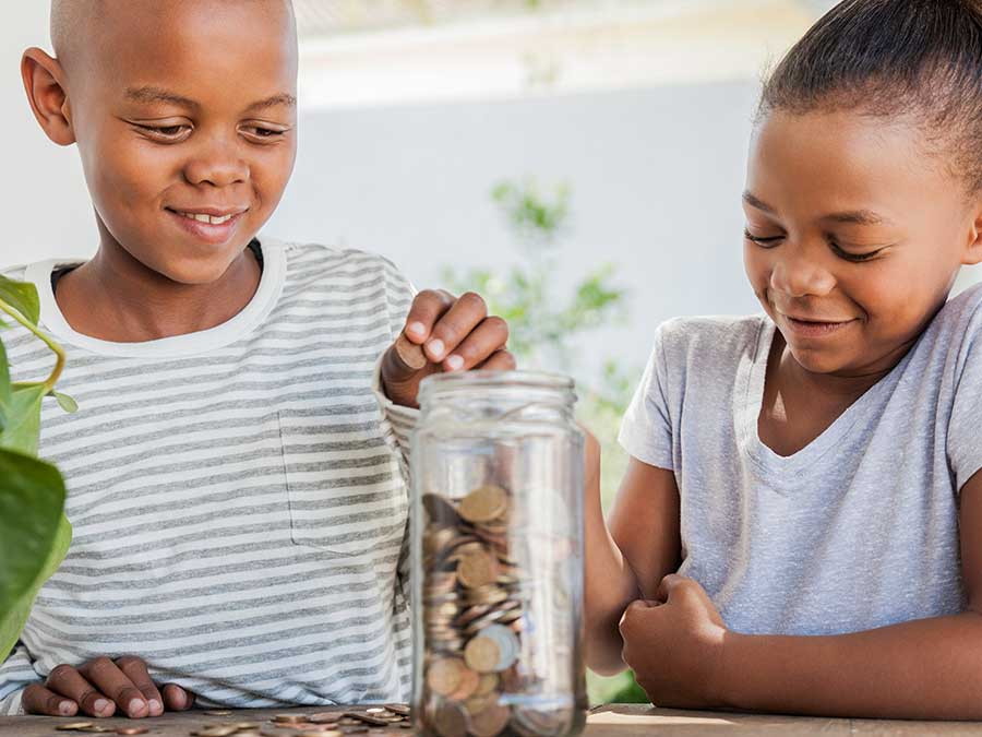 Kids getting involved in saving money